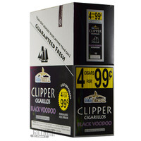 Clipper Cigarillos Foil Pack Black Voodoo 4 for $0.99 upright & foilpack