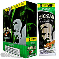 Zig Zag Cigarillos Mango 3 for $0.99 upright & foilpack
