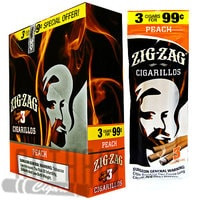 Zig Zag Cigarillos Peach 3 for $0.99