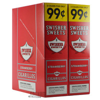 Swisher Sweets Cigarillos Strawberry 2 for $0.99 upright & foilpack