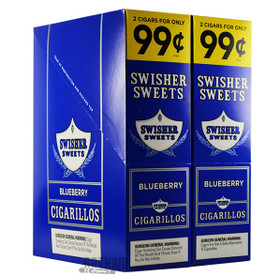Swisher Sweets Cigarillos Blueberry 2 for $0.99 upright