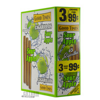 Good Times Cigarillos Sour Apple Pouch upright & foilpack