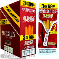 Splitarillos OG Sweet Cigarillos 3 for 0.99 upright & foilpack