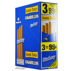 Good Times Cigarillos Blueberry Pouch upright & foilpack