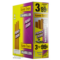 Good Times Cigarillos French Grape Pouch upright