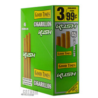 Good Times Cigarillos Pouch Kush upright & foilpack
