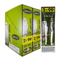 White Owl Cigarillos White Grape upright carton & foilpack