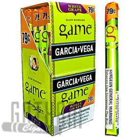 Game Cigarillos White Grape Foil Upright $0.79 upright & foilpack