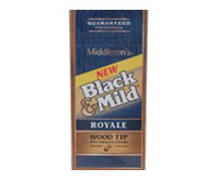 Black And Mild Wood Tip Royale Upright