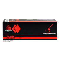 Double Diamond Cigars Black Cherry 100's carton