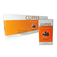 Clipper Filtered Cigars Peach 100's carton & pack