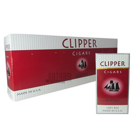 Clipper Filtered Cigars Cherry 100's carton & pack