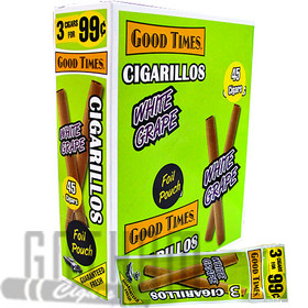 Good Times Cigarillos White Grape upright & foilpack