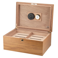 The Milano Cigar Humidor - Oak Open Box