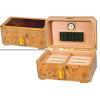 The Cambria Cigar Humidor Box & Open Box