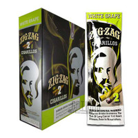 Zig Zag Cigarillos White Grape Upright Box & Foilpack