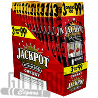 Jackpot Cigarillos Cherry upright & foilpack