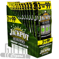 Jackpot Cigarillos Green Sweets upright & foilpack