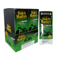 Dutch Masters Cigarillos Sweet Green 3 Pack upright & foilpack