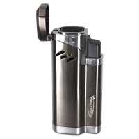Vector Empire Gunmetal Satin Quad Torch Lighter