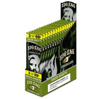 zig Zag Cigarillos Green Sweet 3 for $0.99 Box