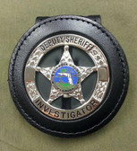 Perfect Fit 716-408 Badge Clip Fits: ROUND FL Sheriff Star
