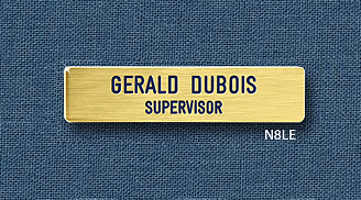 "Reeves Nametag N8LE 9/16"" x 2-7/16"""