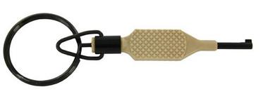 Zak Tool Flat Knurl #9P-TAN Swivel Handcuff Key