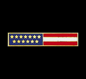 USA Flag Bar E5006 -Lifetime Warranty-Smith&Warren! This bar has 13 Distinctive Gold Stars representing our Original 13 Colonies. Dimensions (w x h) 1.85'' X 0.36''