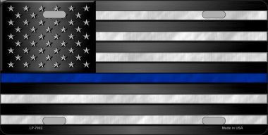 SUBDUED US FLAG THIN BLUE LINE