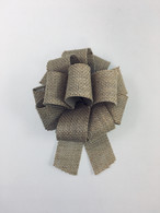 "5-1/2"" Burlap Bow - 24/ctn - Pull bow style, easy to open using the curling ribbon strings"