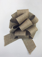 """8"""" Burlap Bow - 24/ctn - Pull bow style, easy to open using the curling ribbon strings"""