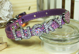 Personalizable Collar Collection- Foxy Glitz Lilac