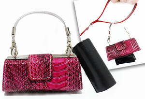 Luxury Doggy Business Purse- Rasp. Crocodile