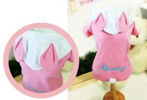 Pink Bunny Pet Hoody