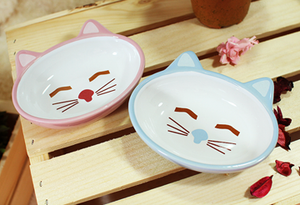 Smile Kitty Stoneware Bowl