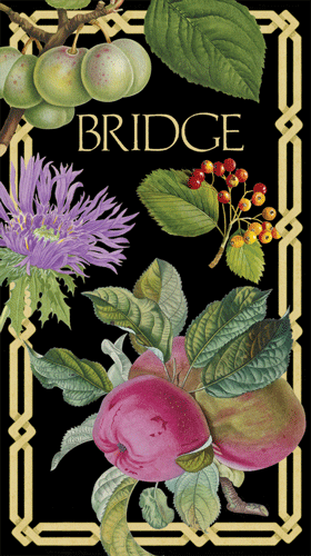 Bridge Score Pad Decoupage Garden