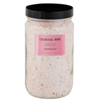 Charcoal Rose Bath Salts