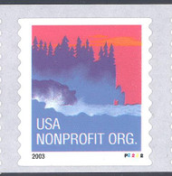 Scott # 3874 Plate # P2222 (.05) seacoast - center# 4B blue