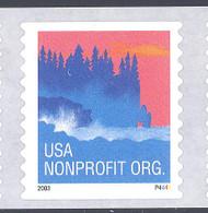 Scott # 3874a Plate # P4444 (.05) seacoast - center# 4T blue