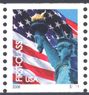 Scott # 3967 Plate # S1111 (.39) lady liberty - center# 4B pink