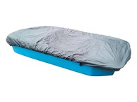 """Typical 96"""" pedal boat with cover"""