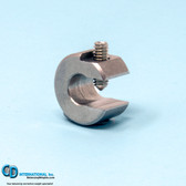 .50 ounce stainless steel balancing c-clamp