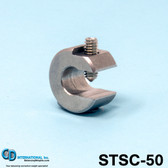 "0.50 oz (14 g) Stainless Steel Balancing Clamp, 5/16"" throat size. - STSC50"