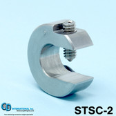 "2 oz (56g) Stainless Steel Balancing Clamp, 5/8"" throat size - STSC-2"