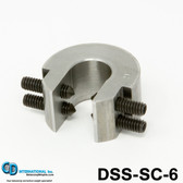 """6 ounce (168 gram) Double Sided Balancing C-Clamp, 3/4"""" throat size - DSS-SC-6"""