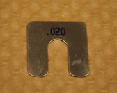 "Size AA, .020"" thick, Stainless Steel Alignment Shim Pack"