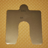 "Size C, .125"" thick, Stainless Steel Alignment Shim Pack"