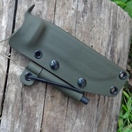 A simple, minimalist, foldover style sheath for Becker, Esee, Kabar, Mora knives