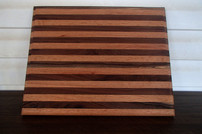 Large Striped Cutting Board